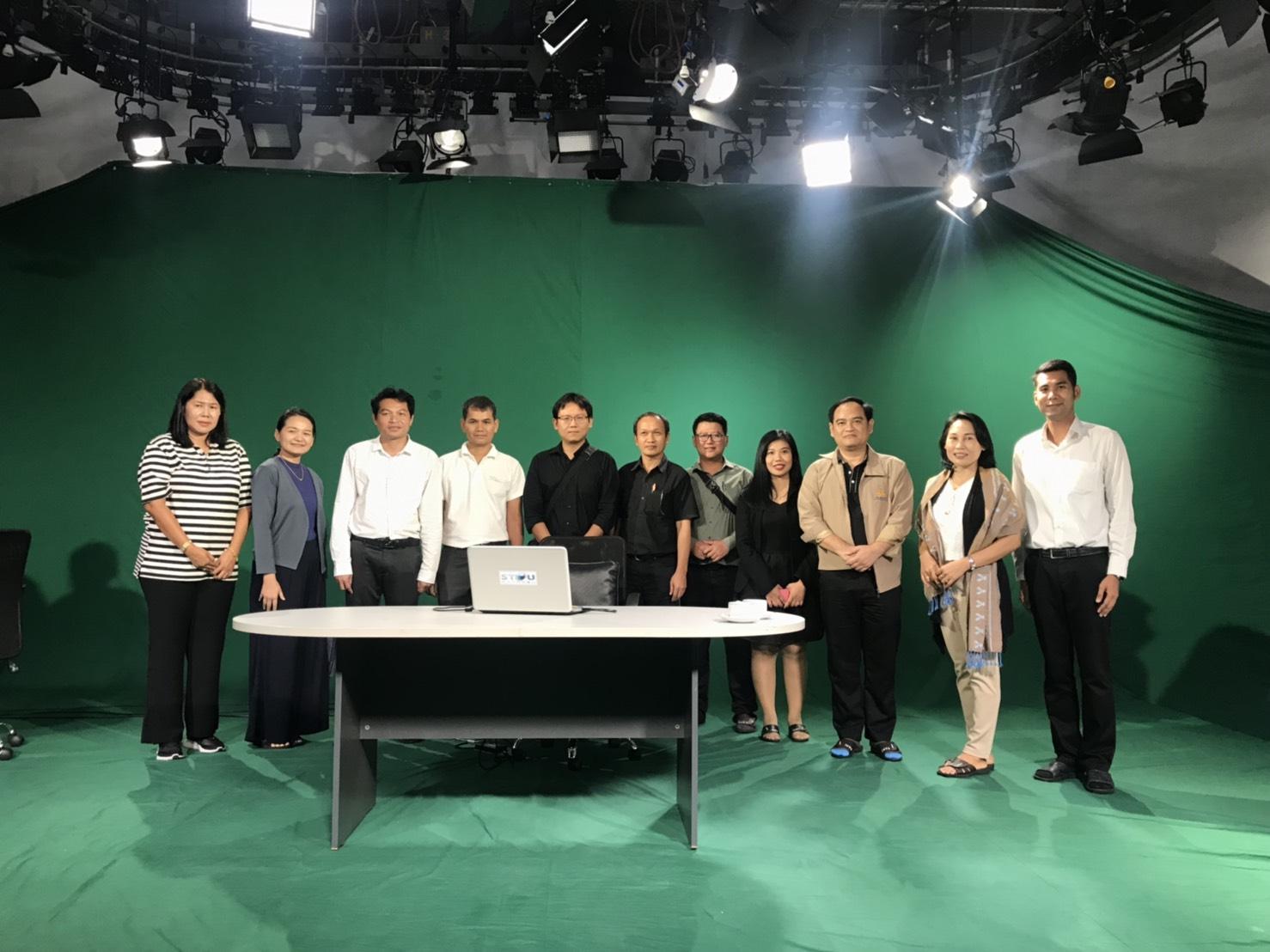 ศูนย์บริการการสอนทางวิทยุและโทรทัศน์ร่วมกับหน่วยงานเครือข่ายนำคณะบุคลากรมหาวิทยาลัยอุบลราชธานี ชมสถานี STOU CHANNEL